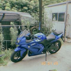 「バイクのある暮らし……😅 まだ免許が………」(1枚目)