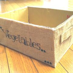 手描き/雑貨/100均/セリア/キッチン/ハンドメイド セリアの麻バッグを使って野菜ストックBO…