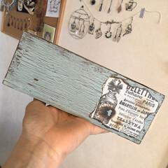 木箱リメイク/リメイク/セリア/100均/DIY/雑貨/... そうめんが入って田木箱をリメイク❣️ ク…