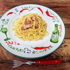 lunch/おうちご飯/カルボナーラ   今日のlunch:カルボナーラ  久…