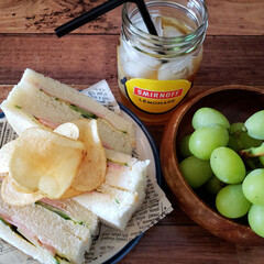 lunch/ハムサンド  今日のお昼~
