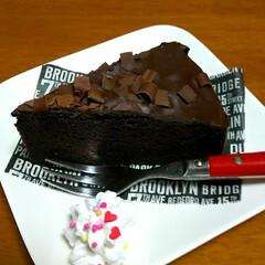 3時のおやつ/ガトーショコラ/チョコケーキ 王子👑の今日のおやつ。。。 【ガトーシ…