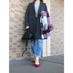 GU/ジーユー/UNIQLO/ユニクロ/ママファッション/ママコーデ/... チャコールグレーのコートはザラの夏のセー…