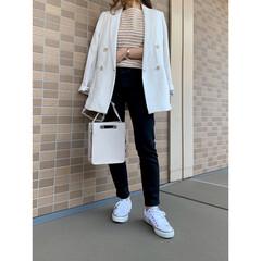 ZARA/ザラ/H&M/エイチアンドエム/ママファッション/プチプラコーデ/... H&Mのジャケットの着回しコーデ♪ イン…