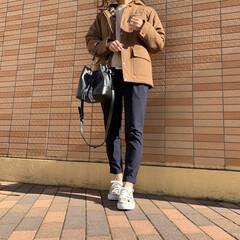 patagonia/パタゴニア/プチプラファッション/ママファッション/プチプラコーデ/コーディネート/... ブラウン×ネイビーコーデ♪ パタゴニアの…