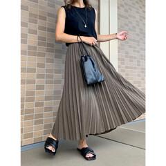 秋ファッション/UNIQLO/ザラ/ZARA/ママファッション/ママコーデ/... UNIQLO新作のアコーディオンプリーツ…