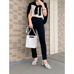 プチプラファッション/エイチアンドエム/コーディネート/ママコーデ/ファッション/ZARA/... ベージュ×ブラックコーデ♪ パンツはH&…