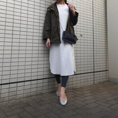 ZARA/ザラ/GU/ジーユー/ママコーデ/ママファッション/... gu新作のワッフルスリットワンピースは形…