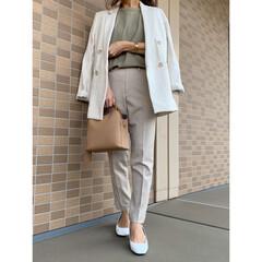 エイチアンドエム/プチプラファッション/プチプラコーデ/ママファッション/ママコーデ/UNIQLO/... ワントーンコーデ♪ H&Mのジャケットは…