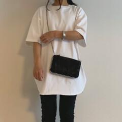 ザラ/GU/ジーユー/プチプラファッション/コーディネート/ママファッション/... guのヘビーウェイトオーバーサイズTに無…