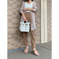 UNIQLO/プチプラファッション/ジーユー/コーディネート/プチプラコーデ/ママファッション/... ワントーンコーデ♪ GUのシアーロングシ…