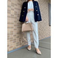 GU/ジーユー/ZARA/ザラ/コーディネート/プチプラファッション/... ネイビー×ホワイトコーデ♪ GUの紺ブレ…(1枚目)
