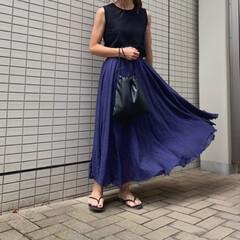 アミアミ/amiami/コーディネート/プチプラコーデ/ママファッション/ママコーデ/... ブラック×ネイビーコーデ♪ 小物もブラッ…