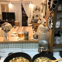 お酒/麻婆豆腐/夜ごはん/お家ごはん/調味料棚DIY/キッチン雑貨/... こんばんわ。  今日は市販の素を使った麻…
