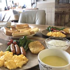 朝ご飯/和食/洋食/おうちごはん/おうちカフェ/朝食/... こんにちは。  先週末旅行に行く予定でし…(4枚目)