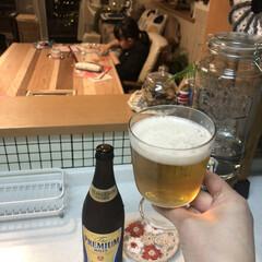 キッチンからの眺め/キッチン/ビール/チワワ 賞味期限近いお買い得にゲットした瓶ビール…(2枚目)