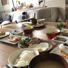 朝ご飯/和食/洋食/おうちごはん/おうちカフェ/朝食/... こんにちは。  先週末旅行に行く予定でし…(2枚目)