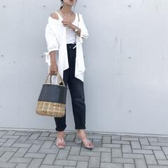 シャツコーデ/シャツ/ザラジョ/ZARA/きれいめカジュアル/ママコーデ/... コーデ   シャツは 羽織としても大活躍…