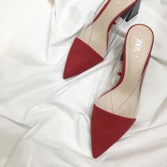 赤シューズ/赤靴/赤/2019ss/大人女子/ザラジョ/... new in ✨  今年もやっぱり pv…