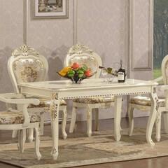 ホワイト家具/白家具/ダイニング/ダイニングセット/ダイニングテーブル/輸入家具/... 今、人気の輸入家具で大人気の白家具 ゴー…