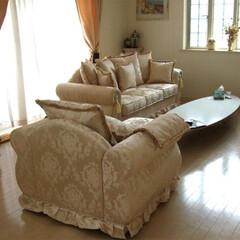 輸入家具/輸入ソファー/ソファ/応接セット/白家具/ホワイト家具/... 明るい色のお部屋によく似合う輸入ソファー