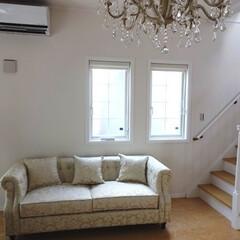 輸入家具/ソファ/ソファー/白家具/ヨーロピアン家具/イタリア家具/... おしゃれなおうちにソファーを搬入しました。
