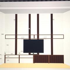 原状回復OK/原状回復可能/壁面DIY/壁面収納棚/TV台/TVボード/... TVボードと壁面棚のDIY  賃貸なので…(4枚目)