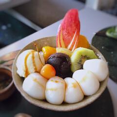 甘味/フォロー大歓迎/至福のひととき/おやつタイム/LIMIAスイーツ愛好会/おでかけ/... 今日は、鎌倉の茶房 雲母へ。 フルーツ白…
