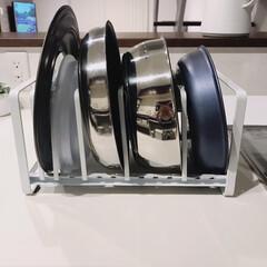 T-fal インジニオ ネオ IHステンレス エクセレンスセット9 ティファール | ティファール(圧力鍋)を使ったクチコミ「我が家のフライパン収納① こちらはtow…」