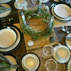 足場板/テーブルランナー/モノトーン/テーブル/食卓/食器/... インテリア好きのお友達から教えてもらった…