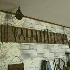 古道具/ジャンク/足場板/工具/錆/ディスプレイ/... 古道具をディスプレイ☆祖父が昔に使ってい…