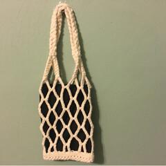 編み物/マクラメ/ネットバッグ/ハンドメイド/DIY/100均/... ネットバッグを作って見ました。