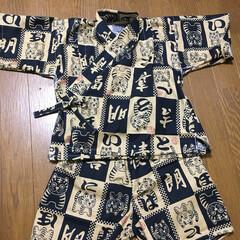 子ども/ファッション/ハンドメイド 甥っ子用の甚平完成!  去年作ったのはサ…