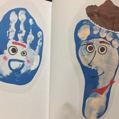キッズ/フォーキー/ウッディ/トイストーリー/ディズニー/手形アート 4歳記念の手形アート 今回はウッディとフ…