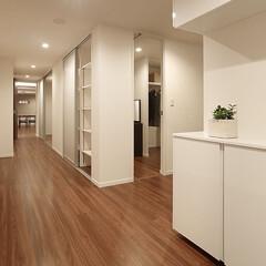 リフォーム/インテリア/住まい/玄関/収納/リノベーション/... マンションのリノベーション。玄関から廊下…
