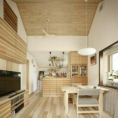 インテリア/住まい/リフォーム/キッチン/リビング/リノベーション/... 2階のもと寝室の小屋裏を取り払い、開放的…