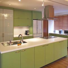 インテリア/リフォーム/キッチン/収納/ミサワリフォーム株式会社/インテリアデザイン/... 部屋の隅にあったI型キッチンを対面式のア…