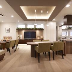 インテリア/家具/住まい/リフォーム/キッチン/リノベーション/... 広々としたリビングダイニングキッチン。ア…