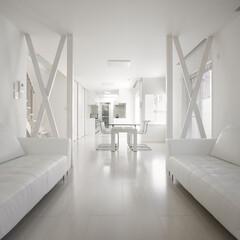 インテリア/住まい/リフォーム/キッチン/リノベーション/インテリアデザイン/... 住宅密集地に建つ戸建のリノベーション。通…