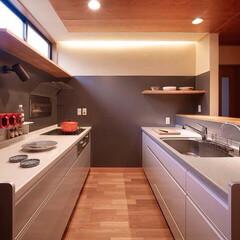 リフォーム/インテリア/住まい/キッチン/収納/リノベーション/... キッチンのリフォーム。2列型で調理や配膳…