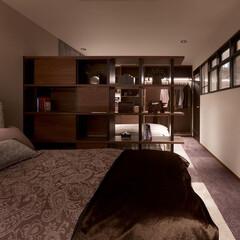 インテリア/住まい/リフォーム/収納/リノベーション/インテリアデザイン/... お主寝室のリフォーム。ベッドとベッドのの…
