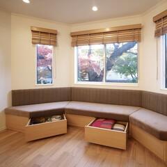 インテリア/家具/住まい/リフォーム/収納/リノベーション/... 戸建のリノベーション。リビングの窓際に収…