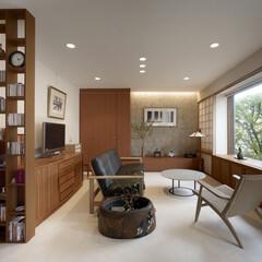 インテリア/家具/住まい/リフォーム/収納/リノベーション/... 和室だった部屋を楓を眺めるリビング空間に…