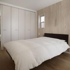 インテリア/住まい/リフォーム/収納/リノベーション/インテリアコーディネート/... 戸建のリノベーション。ベッドルームはソフ…