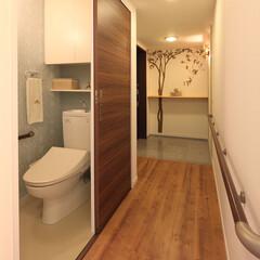 トイレ/インテリア/住まい/リフォーム/玄関/リノベーション/... 中古マンションの購入と同時に車椅子の使用…