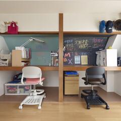 住まい/リフォーム/収納/リノベーション/インテリア/インテリアデザイン/... 6畳をシェアしている仲良し兄妹の子供部屋…