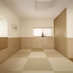 インテリアデザイン/リノベーション/リフォーム/インテリア/住まい/収納/... 納戸となっていた2階の和室を間仕切りを取…