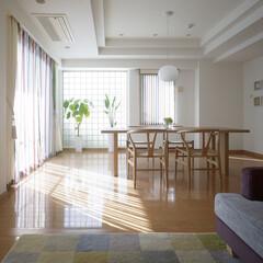 ミサワホームイング/ガラスブロック/カーテン/ストライプ/yチェア/北欧家具/... 中古マンションの購入に合わせてリフォーム…