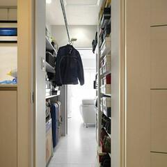 インテリア/住まい/玄関/収納/インテリアデザイン/インテリアコーディネート/... 収納スペースの悩みをウォークスルークロー…