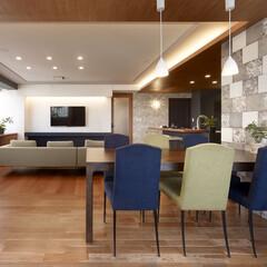 インテリア/家具/住まい/リフォーム/キッチン/リノベーション/... マンションのリノベーション。テレビを取り…